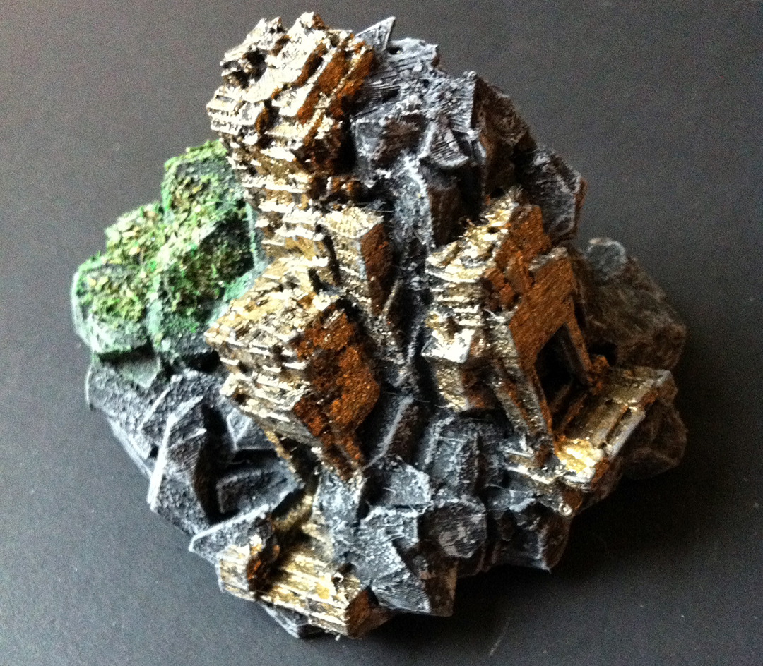3D Printed Golden Temple Ruin Miniature